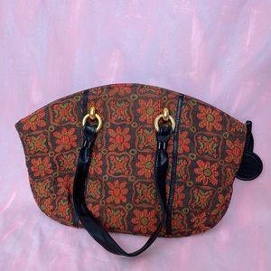 Boho 70s Inspired Textile Large Carpet Tote Bag